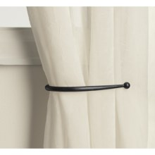 "Versailles 8"" Curtain Hold Backs - Pair in Black - Closeouts"