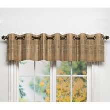 "Versailles Bamboo Grommet Valance with Woven Cuff - 72x12"" in Driftwood - Closeouts"