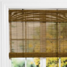 "Versailles Bamboo Roman Shade - 60x72"" in Fruit Wood - Closeouts"