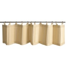 "Versailles Bamboo Valance - Ring-Top, 48x12"" in Natural - Closeouts"