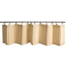 Versailles Bamboo Valance - Ring-Top in Natural - Closeouts