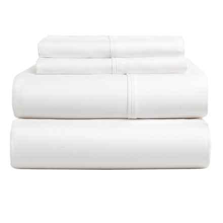 Versailles Casual Elegance Cotton Sheet Set - King, 300 TC in White - Overstock