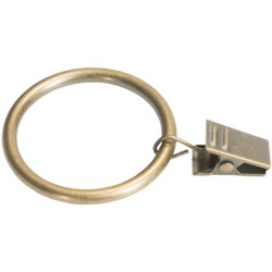 "Versailles Grande Collection 1-3/8"" Clip Rings - Set of 7 in Antique Brass"