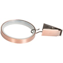 """Versailles Silent-Glide Clip Rings - 1-1/2"""", Set of 7 in Antique Copper - Closeouts"""