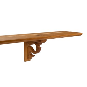 "Versailles Wooden Shelf - 78"", Plate Groove & Brackets in Colonial"