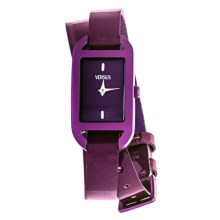 Versus by Versace Ibiza Watch - Leather Strap (For Women) in Purple/Purple - Closeouts