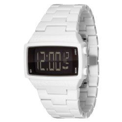 Vestal Dolby Plastic Watch in White/White/Black/Polished