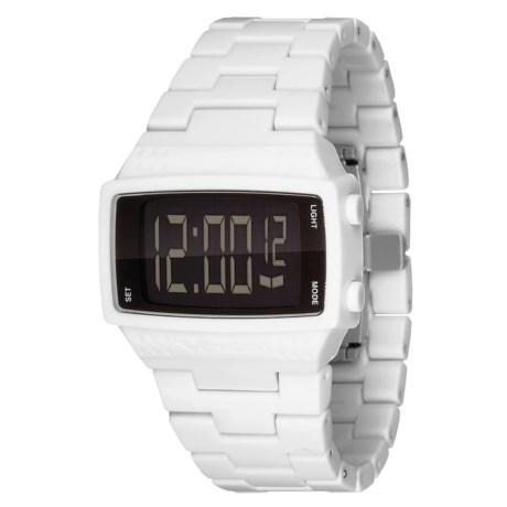 Vestal Dolby Plastic Watch in White/White/Black/Polished