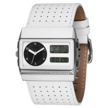 Vestal Monte Carlo Watch - Leather Band in White Lizard/Silver/White - Closeouts