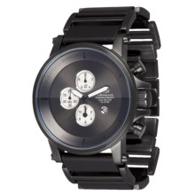 Vestal Plexi Watch - Leather in Gunmetal/Gunmetal/Gunmetal - Closeouts