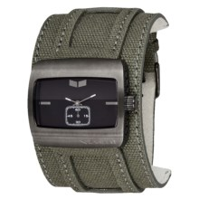 Vestal Saint Watch in Army Canvas/Gun/Black - Closeouts