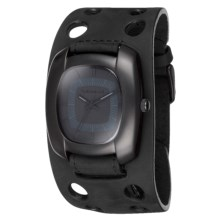 Vestal Super Fi Watch - Leather Strap in Black/Black - Closeouts