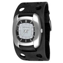 Vestal Super Fi Watch - Leather Strap in Black/Silver - Closeouts