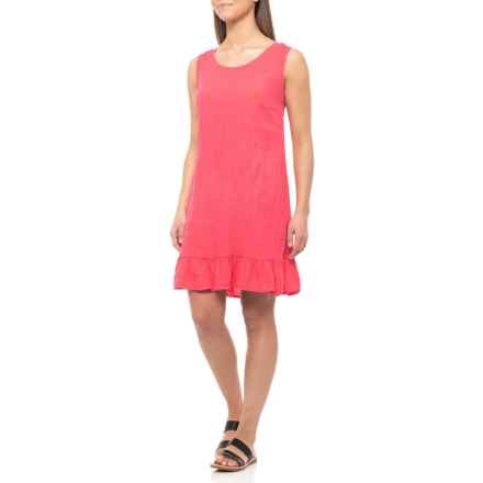 26c705968d7b Via Signoria Made in Italy Fragola Ruffle Hem Dress - Linen, Sleeveless  (For Women