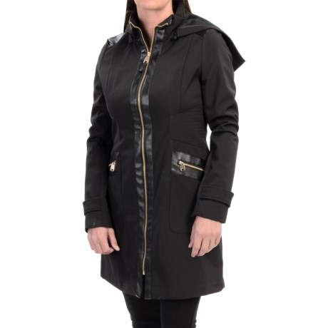 Via Spiga City Soft Shell Jacket Detachable Hood (For Women)
