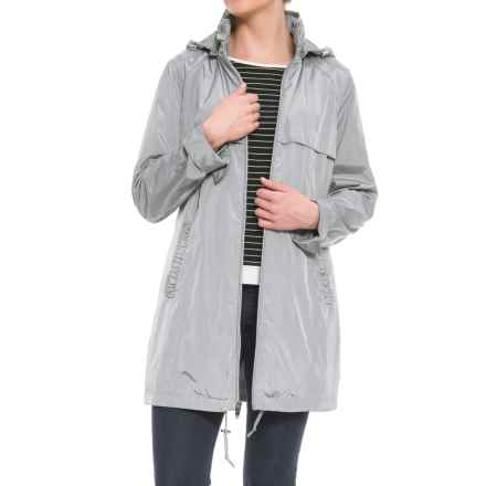 Via Spiga Packable Babydoll Anorak Jacket (For Women) in Cloudburst - Closeouts