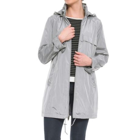 Via Spiga Packable Babydoll Anorak Jacket (For Women) in Cloudburst
