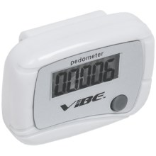 Vibe Heart Healthy Pedometer in White - Closeouts