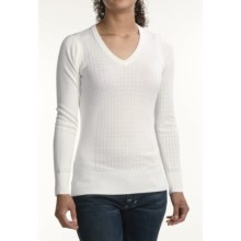 Victorinox 14-Gauge V-Neck Sweater (For Women) in Classic White - Closeouts