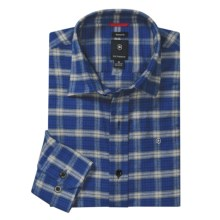 Victorinox Plaid Flannel Shirt - Long Sleeve (For Men) in 989 Royal Blue/Grey - Closeouts