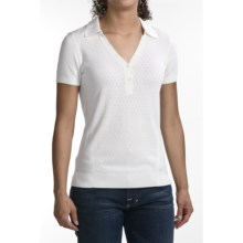 Victorinox Refined Polo Sweater - Short Sleeve (For Women) in Classic White - Closeouts
