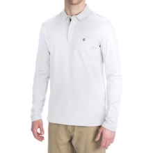 Victorinox Stretch Pima Cotton Polo Shirt - Zip Neck, Long Sleeve (For Men) in Classic White - Closeouts