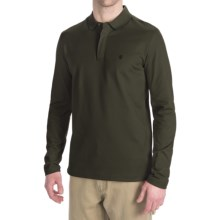 Victorinox Stretch Pima Cotton Polo Shirt - Zip Neck, Long Sleeve (For Men) in Olive - Closeouts