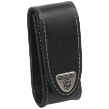 Victorinox Swiss Army 2-4 Layer Knife Pouch - Leather in Black - Closeouts