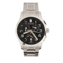 Victorinox Swiss Army Alliance Chronograph Watch in Black/Stainless Steel - Closeouts