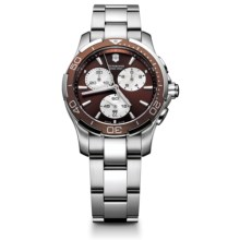Victorinox Swiss Army Alliance Sport Chronograph Watch (For Women) in Brown/Mop/Stainless Steel - Closeouts