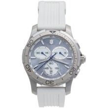 Victorinox Swiss Army Alliance Sport Chronograph Watch - Rubber Strap (For Women) in Purple/White - Closeouts