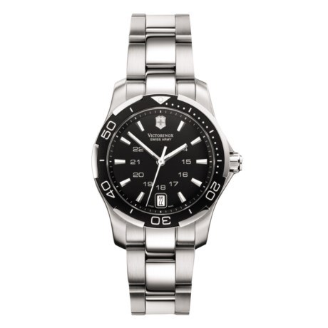 Victorinox Swiss Army Alliance Sport Watch (For Women) in Black/Stainless Steel