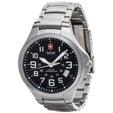 Victorinox Swiss Army Base Camp Watch (For Men and Women) in Black/ Silver - Closeouts