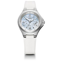 Victorinox Swiss Army Base Camp Watch - Rubber Strap (For Women) in Frozen Blue Mop/White