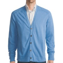 Victorinox Swiss Army Cardigan Sweater - Ottoman Stitching (For Men) in Cascade Blue - Closeouts