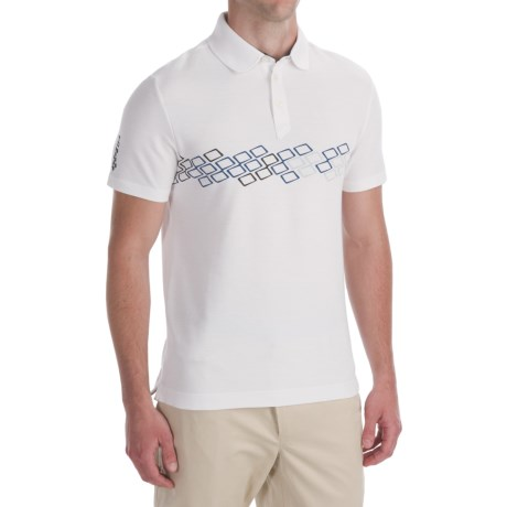 Victorinox Swiss Army Chest-Print Polo Shirt - CoolMax®, Short Sleeve (For Men) in Classic White