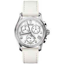 Victorinox Swiss Army Chrono Classic Watch - Leather Strap (For Women) in White Mop/White - Closeouts
