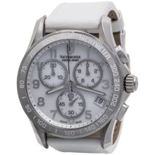 Victorinox Swiss Army Chrono Classic Watch - Mother-of-Pearl Face, Leather Strap (For Men and Women)