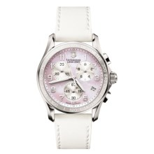 Victorinox Swiss Army Classic Chronograph Watch (For Women) in Pink Mother Of Pearl/White - Closeouts