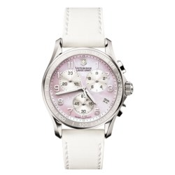 Victorinox Swiss Army Classic Chronograph Watch (For Women) in Pink Mother Of Pearl/White