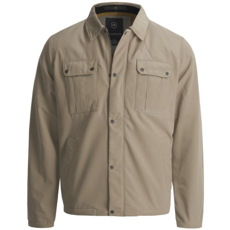 Victorinox Swiss Army Classic Jacket - Insulated, Fleece Lining (For Men) in New Khaki