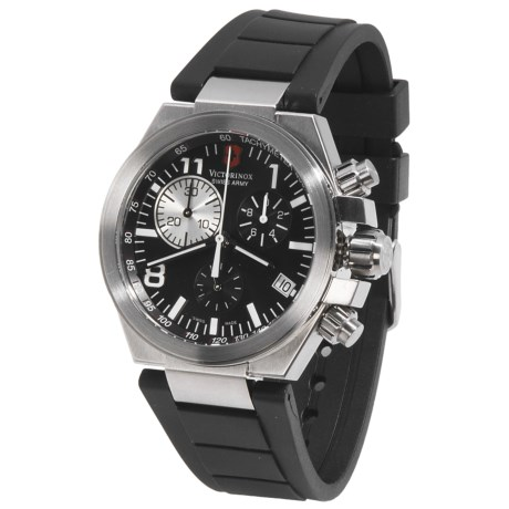 Victorinox Swiss Army Convoy Chronograph Watch in Black/Black