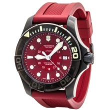 Victorinox Swiss Army Dive Master 500 Watch - Rubber Strap (For Men) in Red/Red - Closeouts