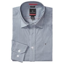 Victorinox Swiss Army Fribourg Stretch Poplin Shirt - Tailored Fit, Long Sleeve (For Men) in Navy - Closeouts