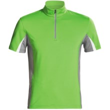 Victorinox Swiss Army Minerale Tri-Color Jersey -  Zip Neck, Short Sleeve (For Men) in Turf Green - Closeouts
