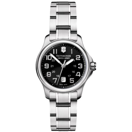 Victorinox Swiss Army Officers Mini Watch - Stainless Steel Bracelet (For Women)