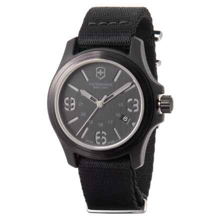8dae35539 Victorinox Swiss Army Original Large Black Dial Watch - Nylon Strap (For  Men) in
