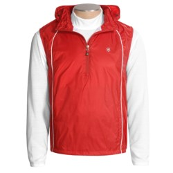Victorinox Swiss Army Packable Ripstop Vest - Zip Neck (For Men) in Ribbon Red W/ White