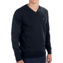 Victorinox Swiss Army Risch Cotton V-Neck Sweater (For Men) in Navy - Closeouts