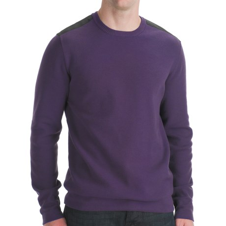 Victorinox Swiss Army Sleaford Crew Neck Sweater - Cotton Blend (For Men) in Black Iris
